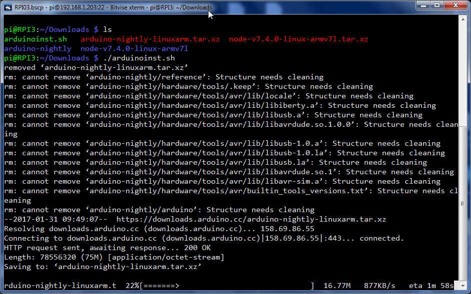 Arduino ide download raspberry pi