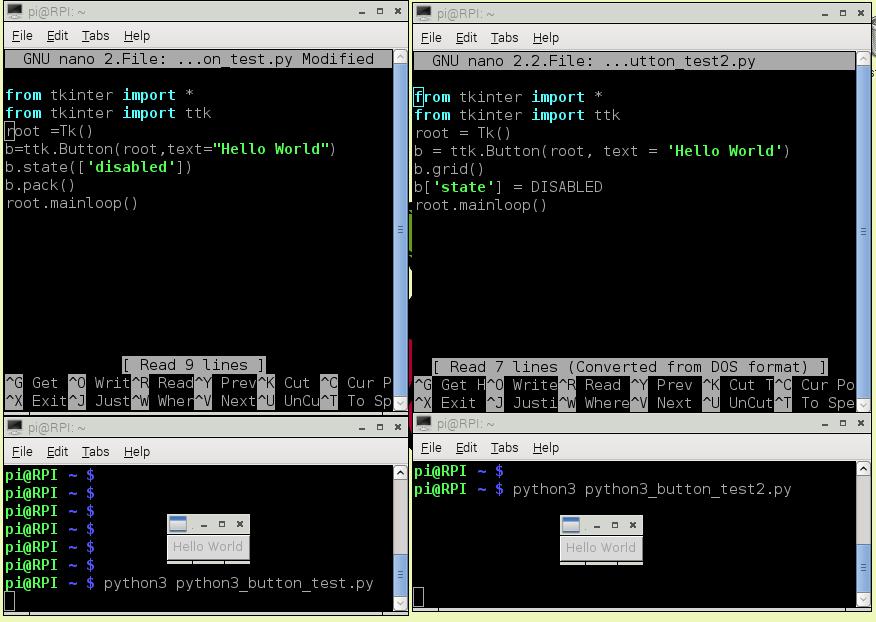 tkinter not creating widget object - Raspberry Pi Forums