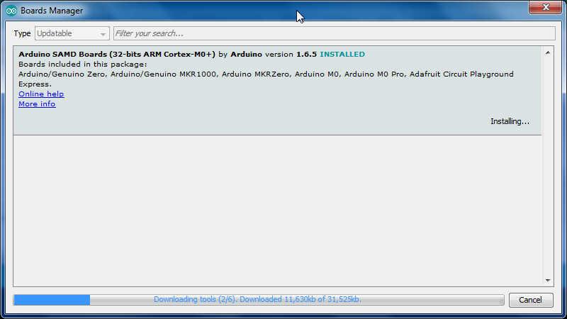 KLL engineering work blog - Articles: ARDUINO( ORG) M0